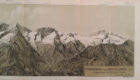 Panorama vom Mettelhorn 3410 m