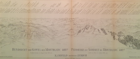 Rundsicht vom Gipfel des Montblanc, 4811 m