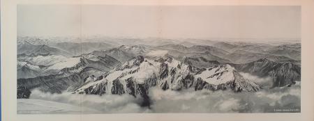 Panorama vom Mont Blanc