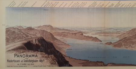 Panorama vom Niederbauen od. Seelisbergkulm 1925 m.