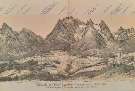 Panorama der Unter-Engadiner Alpen