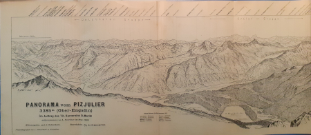 Panorama vom Piz Julier, 3385 m (Ober-Engadin)