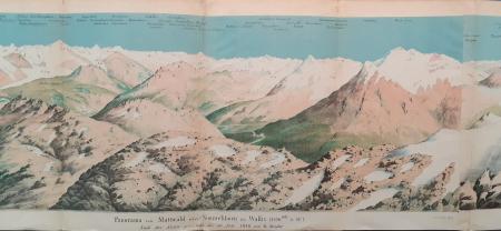 Panorama vom Mattwald oder Simmelihorn im Wallis (3270 mtr. ü. Mr.)