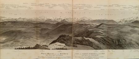 Alpen-Ansicht auf dem Uetliberg bei Zürich