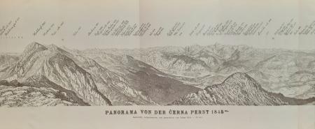 Panorama von der Černa perst 1845 m.