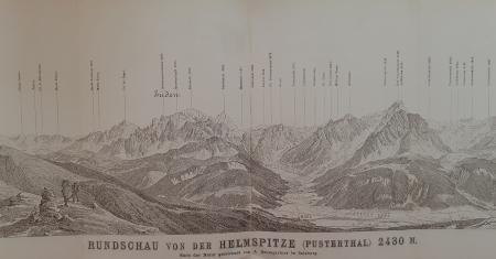 Rundschau von der Helmspitze (Pusterthal) 2430 m.