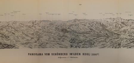 Panorama vom Schönberg (Wilden Kogl) (2093 m)
