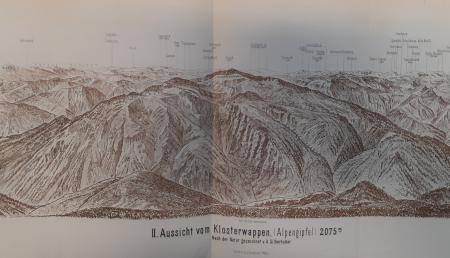 2. Aussicht vom Klosterwappen (Alpengipfel) 2075 m.