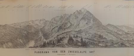 Panorama von der Zwieselalpe 1584 m.