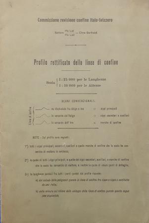 Profilo rettificato della linea di confine [italo-svizzero]
