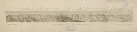 Vue panoramique prise du Cournour (2868 m.)