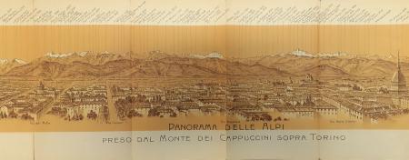 Panorama delle Alpi preso dal Monte dei Cappuccini sopra Torino