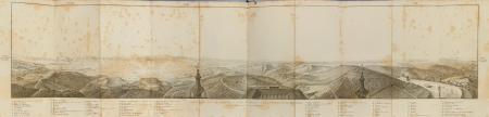 Panorama ou vue perspective de l'horizon de la Coupole de Superga