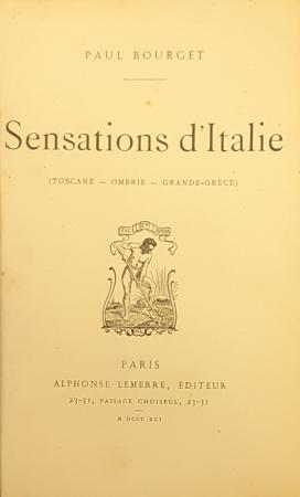 Sensations d'Italie