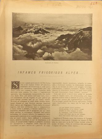 Infames frigoribus Alpes ...