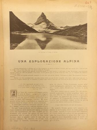 Una esplorazione alpina