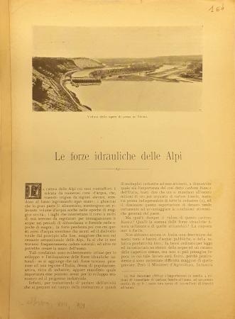 Le forze idrauliche delle Alpi