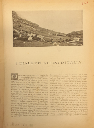 I dialetti alpini d'Italia