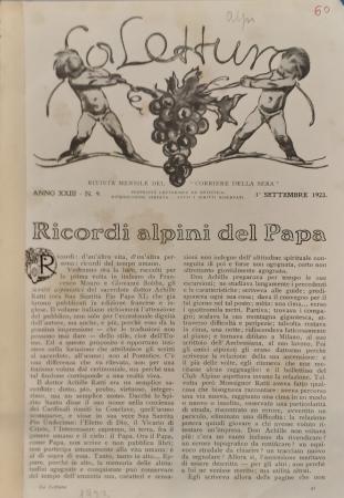 Ricordi alpini del Papa