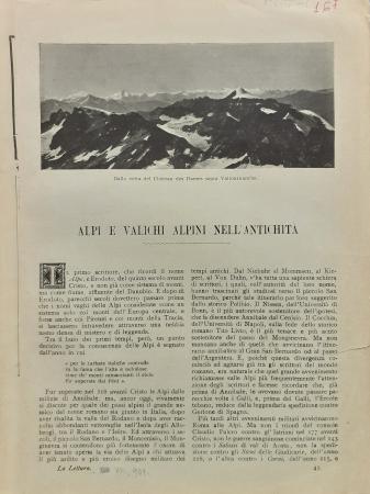 Alpi e valichi alpini nell'antichità