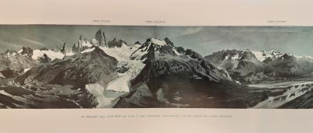 El macizo del Fitz Roy (m. 3.375) y las cadenas limitorfes, vistos desde el Cerro Rosado
