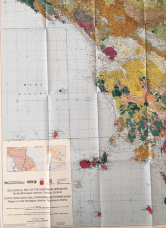 Geological map of the Northern Apennines (Emilia Romagna, Marche, Tuscany, Umbria)