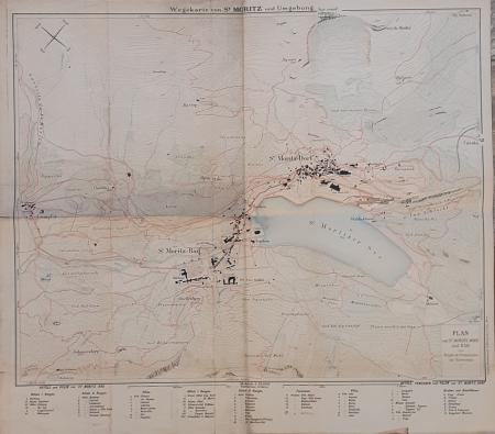 Wegekarte von St. Moritz und Umgebung
