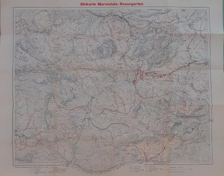 Skikarte Marmolata-Rosengarten