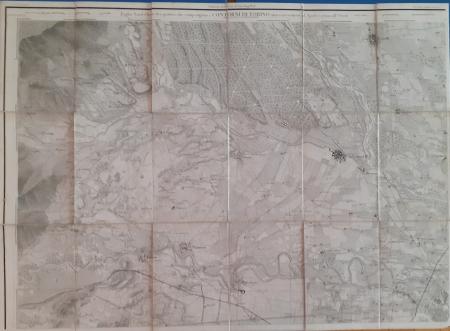 Foglio Nord-Ovest dei quattro che compongono i Contorni di Torino sino a 12.500 metri al Nord e 17.500 all'Ovest