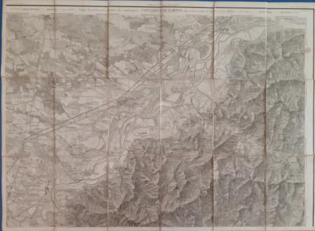 Foglio Nord-Est dei quattro che compongono i Contorni di Torino sino a 12.500 al Nord e 17.500 all'Est
