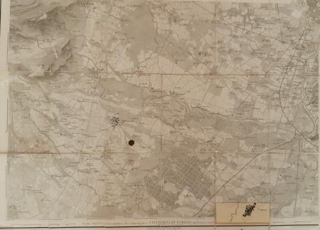 Foglio Sud-Ovest dei quattro che compongono i Contorni di Torino sino a 12.500 al Nord e 17.500 all'Est