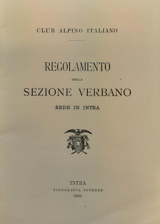 Regolamento della sezione Verbano