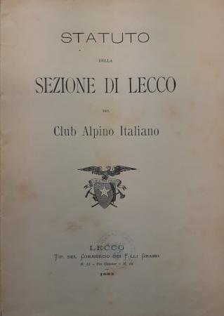 Statuto della Sezione di Lecco del Club alpino italiano