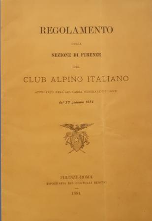 Regolamento della sezione di Firenze del Club alpino italiano