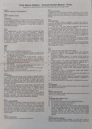 Regolamento sezionale approvato dall'assemblea dei soci l'8 luglio 1999