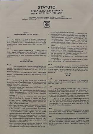 Statuto della Sezione di Brunico del Club alpino italiano