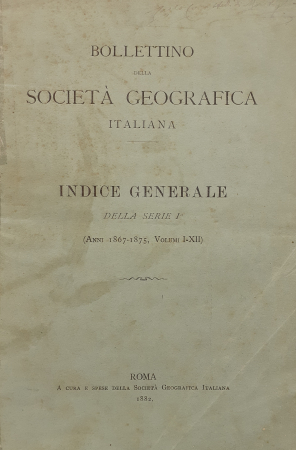 Bollettino della Società geografica italiana