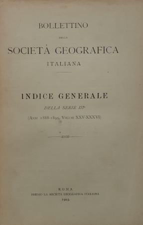 Bollettino della Societa geografica italiana