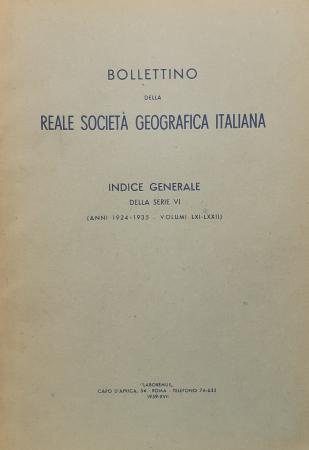 Bollettino della Reale Società geografica italiana