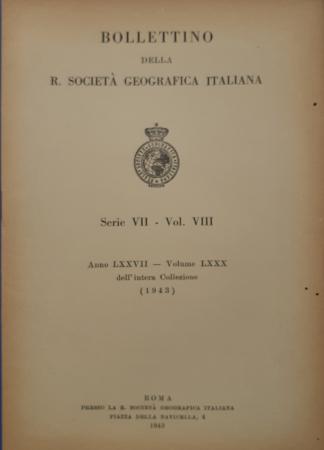 Bollettino della R[eale] Società geografica italiana