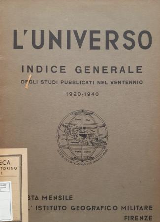 Indice generale degli studi pubblicati nel ventennio, 1920-1940