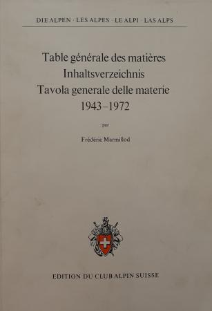 Table générale des matières pour les tomes 19. à 48. (1943-1972)