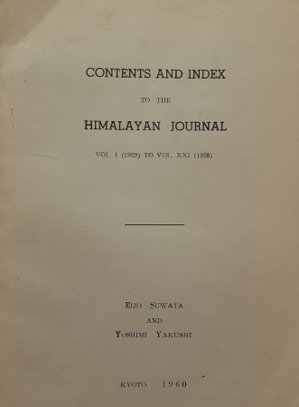Contents and index to The Himalayan journal