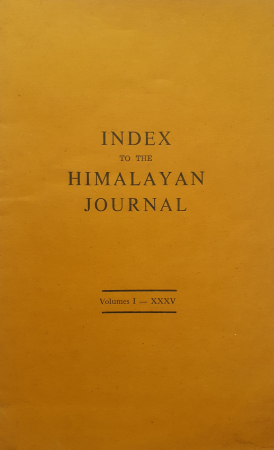 Index to The Himalayan journal