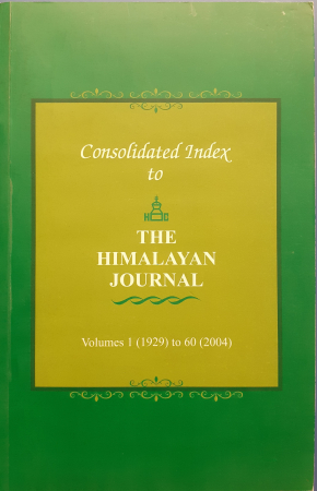 Consolidated index to The Himalayan journal
