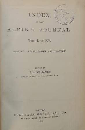 Index to the Alpine Journal