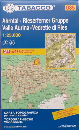 Foglio 35: Ahrntal-Rieserferner Gruppe