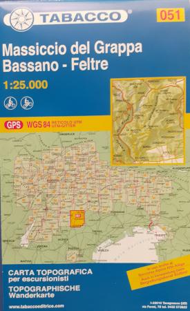 Foglio 51: Massiccio del Grappa-Bassano-Feltre