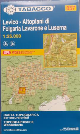 Foglio 57: Levico-Altopiani di Folgaria, Lavarone e Luserna