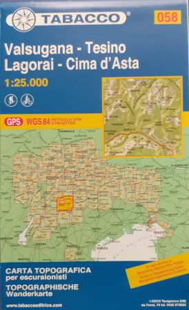Foglio 58: Valsugana-Tesino, Lagorai-Cima d'Asta